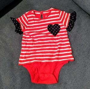 Gap baby red white and blue onesie 12-18 mo